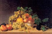Peale, James Still Life with Fruit on a Tabletop oil painting artist