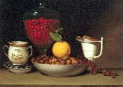 Peale, Raphaelle Still Life: Strawberries Nuts oil painting artist