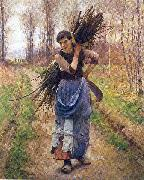 Pearce, Charles Sprague The Woodcutter's Daughter oil painting artist