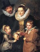 Peter Paul Rubens Fan Brueghel the Elder and his Family (mk01) oil painting picture wholesale