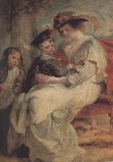Peter Paul Rubens Helena Fourment with Two of ber Cbildren (mk01) oil painting picture wholesale
