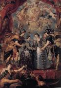 Peter Paul Rubens The Excbange of Princesses (mk01) oil painting picture wholesale