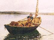 Picknell, William Lamb Man in a Boat oil painting picture wholesale