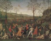 Pietro Vannuci called il Perugino The Combat of Love and Chastity (mk05) oil painting artist