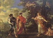 Pietro da Cortona Venus as a Huntress Appears to Aeneas (mk05) oil painting artist