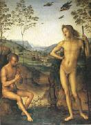 Pietro vannucci called IL perugino Apollo and Marsyas (mk05) oil painting artist