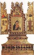 Simone Dei Crocefissi Virgin and Child with Saints a triptych (mk05) oil painting picture wholesale