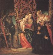 VERONESE (Paolo Caliari) The Virgin and Child with Saints Justin and George and a Benedictine (mk05) oil painting picture wholesale