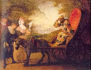 WATTEAU, Antoine Harlequin, Emperor on the Moon oil painting picture wholesale