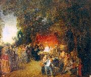 WATTEAU, Antoine The Marriage Contract oil painting picture wholesale
