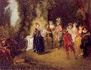 WATTEAU, Antoine The French Theater oil painting picture wholesale
