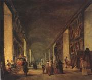 louvre The Grande Galerie at the Louvre between (mk05) oil painting artist