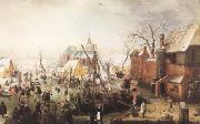 AVERCAMP, Hendrick Winter Scene at Yseleuiden (mk08) oil painting picture wholesale