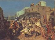 Alfred Dehodencq Blacks Dancing in Tangiers (san26) oil