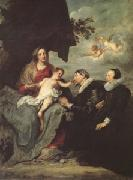 Anthony Van Dyck The Virgin and Child with Donors (mk05) oil painting picture wholesale