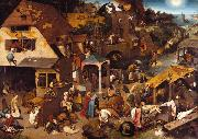 BRUEGEL, Pieter the Elder Netherlandish Proverbs (mk08) oil painting picture wholesale