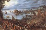BRUEGHEL, Jan the Elder Great Fish-Market (mk08) oil painting picture wholesale
