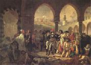 Baron Antoine-Jean Gros Bonaparte Visiting the Plague-Stricken at Jaffa on 11 March (mk05) oil painting