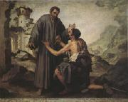 Bartolome Esteban Murillo Brother Juniper and the Beggar (mk05) oil painting picture wholesale