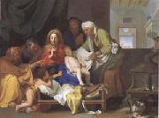 Brun, Charles Le Holy Family with the Infant Jesus Asleep (mk05) oil
