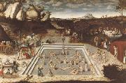CRANACH, Lucas the Elder The Fountain of Youth (mk08) oil painting picture wholesale