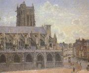 Camille Pissaro The Church of St.Jacques at Dieppe (san08) oil painting picture wholesale