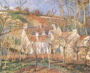Camille Pissarro Red Roofs(Village Cornet,Impression of Winter) (mk09) oil painting picture wholesale