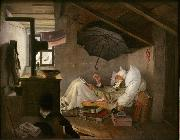 Carl Spitzweg The Poor Poet (mk09) oil