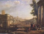 Claude Lorrain View of the Campo Vaccino ()mk05 oil painting artist