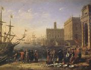 Claude Lorrain View of a Port with the Capitol (mk05) oil painting artist