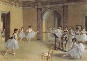 Edgar Degas Dance Class at the Opera (mk09) oil painting picture wholesale