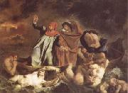 Eugene Delacroix The Bark of Dante (Dante and Virgil in Hell) (mk09) oil painting picture wholesale