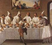 Francisco de Zurbaran St Hugo of Grenoble in the Carthusian Refectory (mk08) oil painting picture wholesale