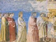 GIOTTO di Bondone The Marriage Procession of the Virgin (mk08) oil painting artist