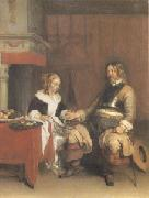 Gerard Ter Borch The Military Admirer (mk05) oil painting picture wholesale