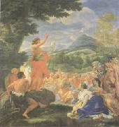 Giovanni Battista Gaulli Called Baccicio St John the Baptist Preaching (mk05) oil painting artist
