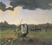 Giovanni Segantini The Hay Harvest (mk09) oil painting artist