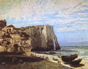 Gustave Courbet The Cliff at Etretat after the Storm (mk09) oil painting picture wholesale