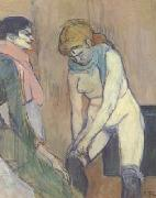 Henri de toulouse-lautrec Woman Pulling up her stocking (san22) oil painting picture wholesale
