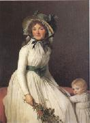Jacques-Louis  David Emilie Seriziat nee Pecoul and Her Son Emil Born in 1793 (mk05) oil painting picture wholesale