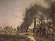 Jean Baptiste Camille  Corot La route de Sin-le-Noble (mk11) oil painting picture wholesale