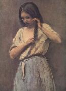 Jean Baptiste Camille  Corot Jeune fille a sa toilette (mk11) oil painting picture wholesale