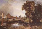 John Constable Dedham Lock and Mill (mk09) oil painting picture wholesale