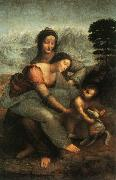 LEONARDO da Vinci The Virgin and St Anne (mk08) oil painting picture wholesale