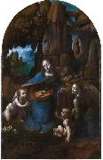 LEONARDO da Vinci Virgin of the Rocks,completed (mk08) oil painting picture wholesale