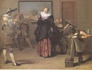 Lambert  Jacobsz The Dancing Lesson (mk05) oil painting picture wholesale