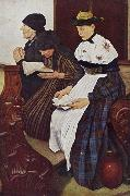 Leibl, Wilhelm Three Women in Church (mk09) oil painting picture wholesale