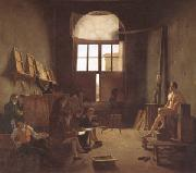Leon-Matthieu Cochereau Interior of the Studio of David (mk05) oil painting picture wholesale