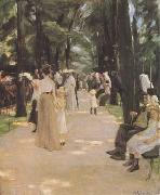 Max Liebermann The Parrot Walk at Amsterdam Zoo (mk09) oil painting artist