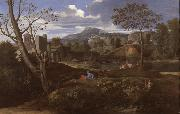 Nicolas Poussin Landscape with Three Men (mk08) oil painting picture wholesale